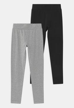 New Look 915 Generation - BASIC 2 PACK - Leggings - black/dark grey