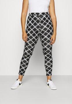 Simply Be - CHECK - Leggings - Trousers - black