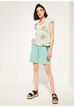comma casual identity - KURZARM - Bluse - white flowers & dots
