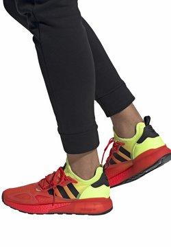 adidas Originals - ZX 2K BOOST - Sneakersy niskie - red/yellow/orange