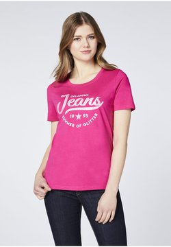 Oklahoma Jeans - T-Shirt print - beetroot