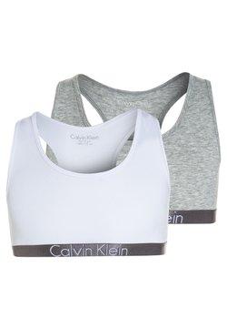 Calvin Klein Underwear - BRALETTE 2 PACK - Bustier - grey heather