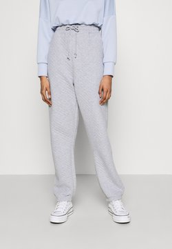 Missguided - QUILTED - Pantalones deportivos - grey