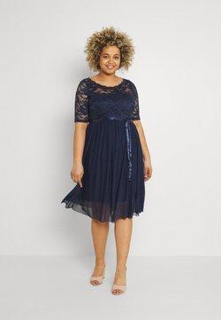 Mamalicious Curve - MLMIVANA DRESS - Cocktailkleid/festliches Kleid - navy blazer