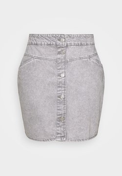 Noisy May Curve - NMBE JUNE SHORT SKIRT - Minirock - light grey denim