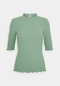 Vila - VIJULLA HIGH NECK - T-Shirt basic - hedge green