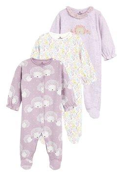 Next - 3 PACK HEDGEHOG SLEEPSUITS - Pyjamas - purple