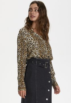 Soaked in Luxury - ZAYA - Bluse - beige leopard