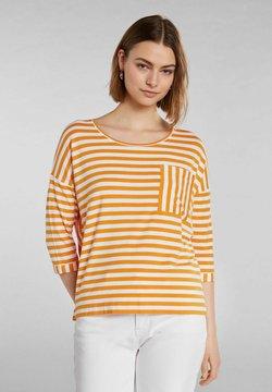 Oui - Langarmshirt - white yellow/or