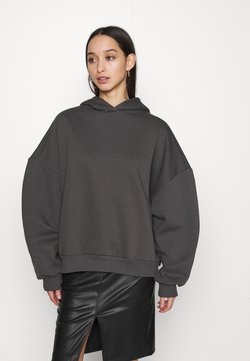 Nly by Nelly - PERFECT CHUNKY HOODIE - Kapuzenpullover - offblack