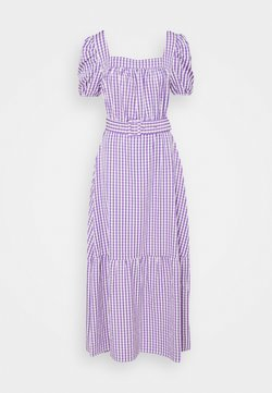 VILA TALL - VIGRIMDA MAXI BELT DRESS - Freizeitkleid - violet tulip/white