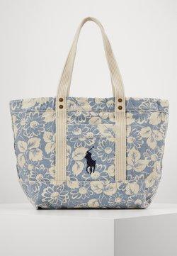 Polo Ralph Lauren - FLORAL PRINT TOTE - Shoppingväska - blue/white