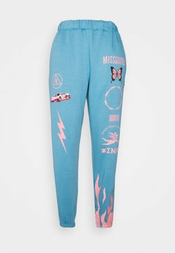 Missguided - BUTTERFLY - Jogginghose - blue