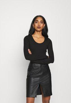 G-Star - BODY SLIM - Langarmshirt - black