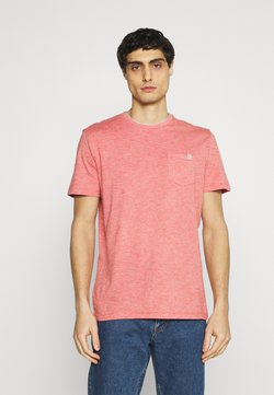 TOM TAILOR - FINELINER WITH POCKET - T-Shirt basic - powerful red yarn dye stripe