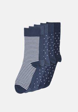 Pier One - 5 PACK - Socken - dark blue/mottled blue/dark grey