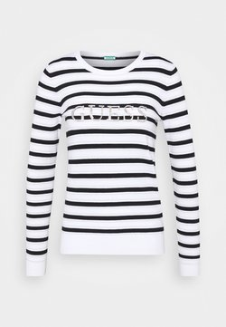 Guess - ZOE  - Strickpullover - white black / lure