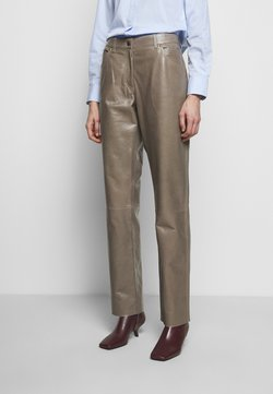 Bally - LEATHER TROUERS - Pantalon en cuir - dove