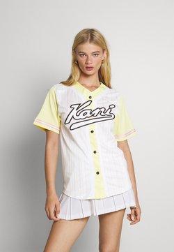 Karl Kani - VARSITY BLOCK PINSTRIPE BASEBALL SHIRT - T-Shirt print - white