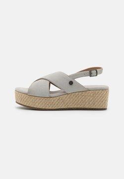 Anna Field - LEATHER - Korkeakorkoiset sandaalit - grey
