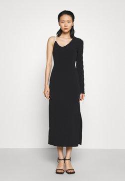 David Koma - ASSYMETRIC NECK SLEEVE CRYSTAL STRAP MIDI DRESS - Cocktailkleid/festliches Kleid - black