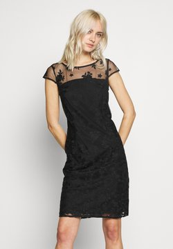 Esprit Collection - DEGRADÉ FLORAL - Sukienka koktajlowa - black