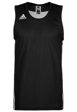 adidas Performance - 3G SPEED REVERSIBLE BASKETBALL TEAM AEROREADY PRIMEGREEN SLEEVEL - Tekninen urheilupaita - black/white