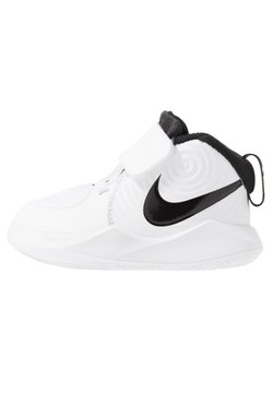 Nike Performance - TEAM HUSTLE - Zapatillas de baloncesto - white/black/volt