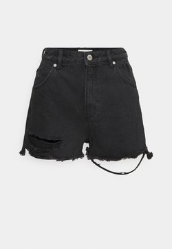 Rolla's - DUSTERS  - Denim shorts - black steel worn