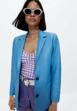 Uterqüe - Giacca di pelle - blue