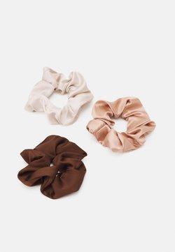 Topshop - SCRUNCHIE 3 PACK - Haar-Styling-Accessoires - brown