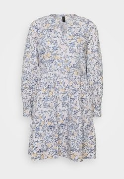 YAS - YASFIELDA DRESS - Blusenkleid - star white