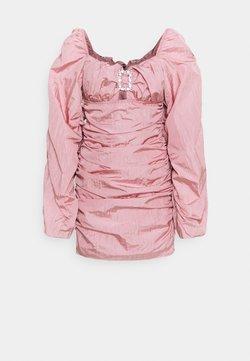 Missguided - RUCHED DIAMANTE BODYCON DRESS - Vestido de cóctel - pink