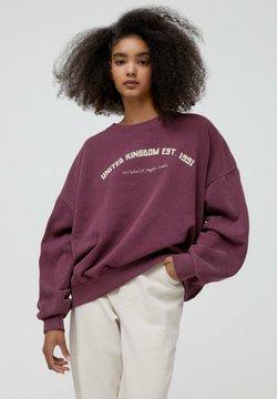 PULL&BEAR - COLLEGE-SWEATSHIRT MIT RUNDAUSSCHNITT - Sweatshirt - bordeaux