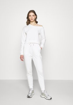 Even&Odd - Off Shoulder Sweat & Jogger Set - Sweatshirt - off-white