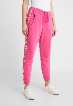 True Religion - EXCLUSIVE PANT TAPE ON SIDE SEAMS - Jogginghose - pink yarrow