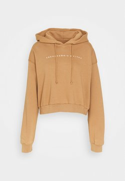 Abercrombie & Fitch - SMALL SCALE LOGO - Kapuzenpullover - brown
