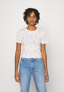 Cotton On - LITTLE SISTER POINTELLE TEE - T-Shirt print - adele daisy luna white