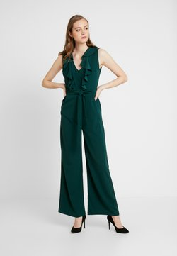 WAL G. - FRILL V NECK PLUNGE COULLOTES - Combinaison - forest green