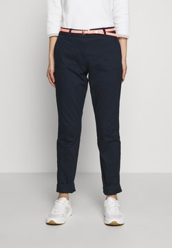 TOM TAILOR - BELTED SLIM - Chinot - sky captain blue