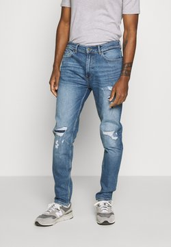 Burton Menswear London - TAPERED HEAVY - Slim fit jeans - blue