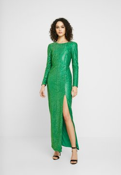 Nly by Nelly - SPARKLING SLIT GOWN - Vestido de fiesta - green