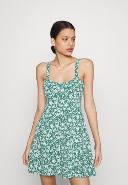 Cotton On - TURNER STRAPPY MINI DRESS - Trikoomekko - heritage green