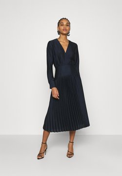 Scotch & Soda - FEMININE DRESS WITH PLEATED SKIRT IN STRUCTURED QUALITY - Cocktailkleid/festliches Kleid - night