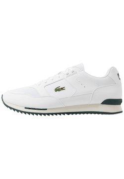 Lacoste - PARTNER PISTE - Sneaker low - white/dark green