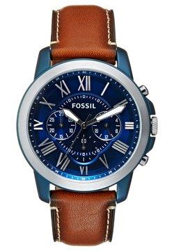 Fossil - Chronograph - hellbraun