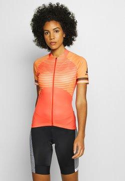 ODLO - STAND UP COLLAR FULL ZIP ZEROWEIGHT - T-Shirt print - hot coral/papaya