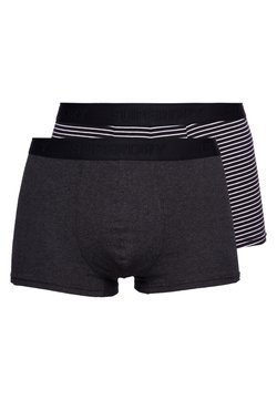Superdry - 2 PACK - Shorty - black stripe/black snow heather