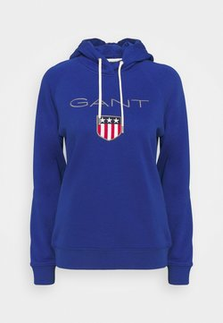 GANT - SHIELD HOODIE - Sweatshirt - college blue