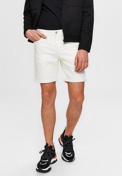 Selected Homme - Jeansshort - white denim